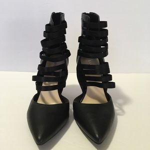 Nine West Touche Pump Black Faux Leather 8.5M